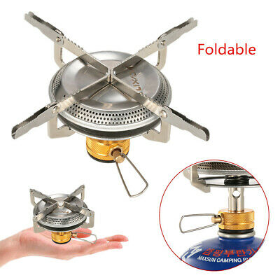 Lixada Portable Windproof Folding Camping Gas Stove w// Piezo Ignition 2900W O3T2