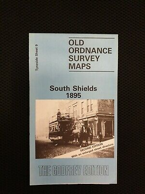 Old Ordnance Survey Detailed Maps South Shields  Tyneside 1895 Godfrey Edition