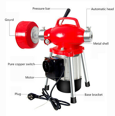 220V Electric Pipe Dredging Machine Kitchen Toilet Drain Cleaning Machine 45M Y