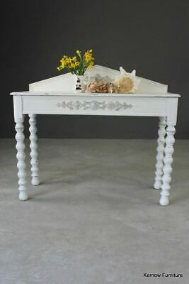 Antique Vintage Shabby Chic Painted White Side Console Occasional Bedroom Table