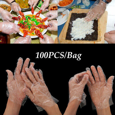 Kitchen Transparente PE Disposable Gloves Ecological BBQ Plastic One-off