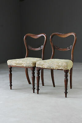 Pair Antique Victorian Rosewood Dining Chairs