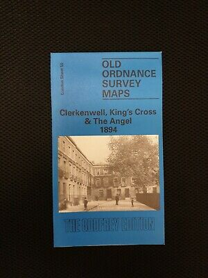 Old Ordnance Survey Maps Clerkenwell Kings Cross & Angel London 1871