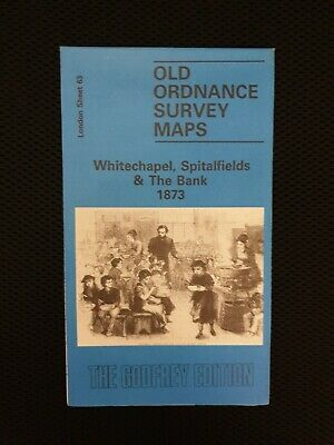 Old Ordnance Survey Maps Whitechapel Spitalfields & Bank London 1873