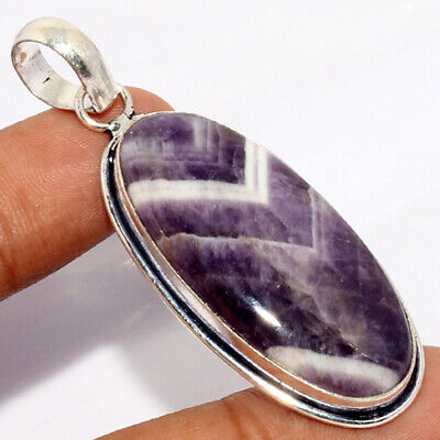"""ZH4565 Amethyst Lace 925 Sterling Silver Plated Pendant 2"""""""