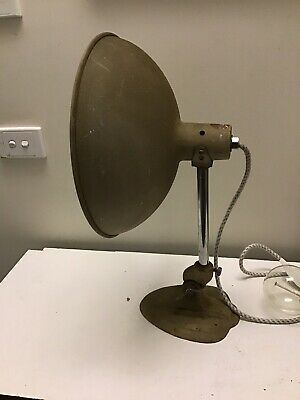 Vintage/retro Ergon Industrial Light Bedside Table Lamp British Made Desk Lamp