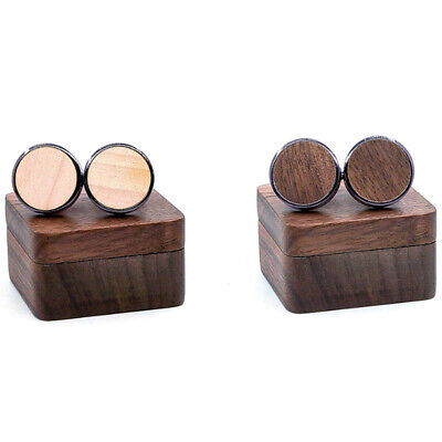 New Wooden Cufflinks Wedding Groom Cufflinks Shirt Cufflinks Men'S Casual F I3R9