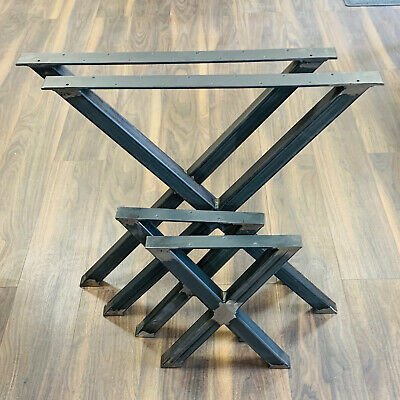 X Shape Metal Dining Table Legs Bench