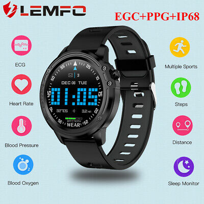 Lemfo IP68 Orologio intelligente Pressione sanguigna Braccialetto fitness Watch