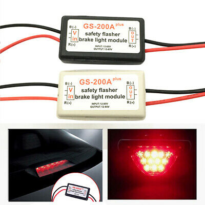 Vehicle Car GS-200A  LED Brake Stop Light Strobe Flash Module Controller Blac~PA