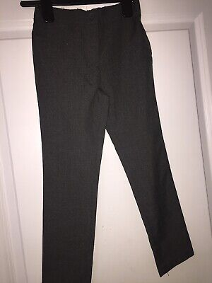 Debenhams Girls Skinny Fit School Trousers Grey Aged 6