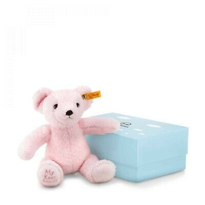 NEW Steiff 241352 Soft and Cuddly Baby Safe Pink My First Steiff Teddy Bear 24cm