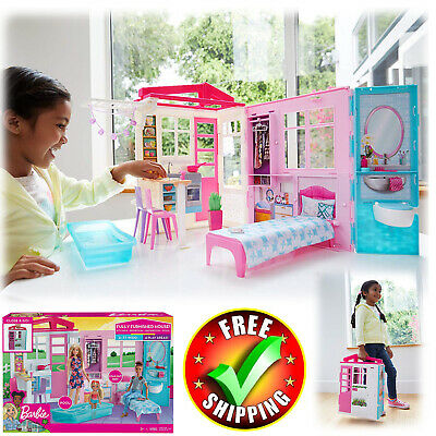 Barbie House Story Dream Furniture Accessories Dollhouse Girls Fun Play