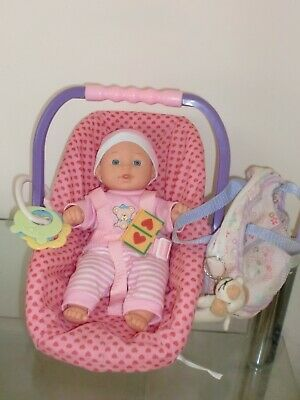 """10"""" soft bodied Baby Doll in Carry Chair with Accessory Bag & Accessories"""