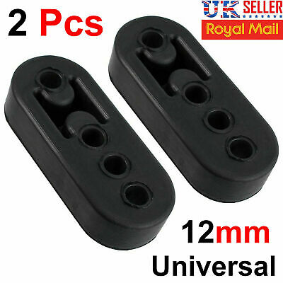 2X Universal Car Exhaust Hanger Bracket Rubber Mount Strap Heavy Duty Pipe Tool