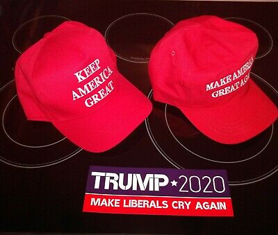 2 pack combo official and authentic Trump campaign gear hats 1 CF MAGA & 1 KAG
