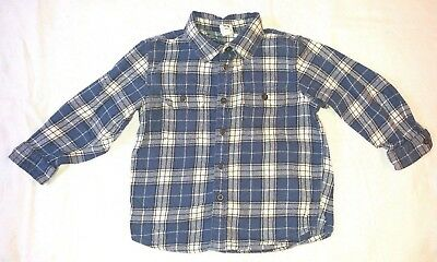 Gap Boys Plaid Button Up Flannel Long Sleeve Top Size 4