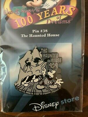 Walt Disneys 100 Years of Dreams The Haunted House Pin #38 Mickey Mouse Skeleton