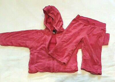 Baby Gap Girls Pink Tracksuit Size 6 - 12 months.
