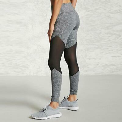 Women Mesh Sports Yoga Stretchy Leggings Sports Running Pants LA