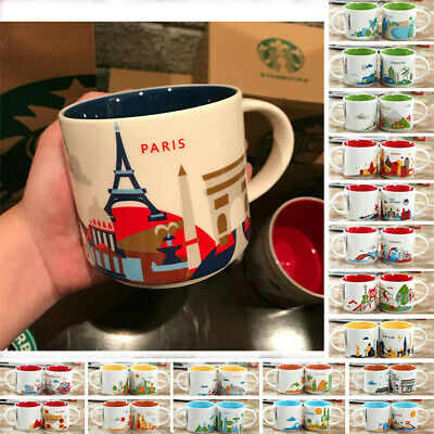 14oz YAH You Are Here Collection Coffee Cup Thailand London Starbucks Mug Japan