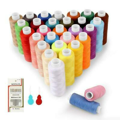 SOLEDI Sewing Thread 30 Colour 250 Yards Each Spool Kit with 16 Needles and 2 Ne