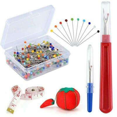 Pllieay 250 Pieces Sewing Pins 38mm Multicolor Glass Ball Head Straight Quilting