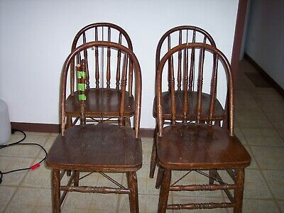 Antique Oak Chairs (4), Four Kitchen chairs, Used, Sturdy, Local Pick up