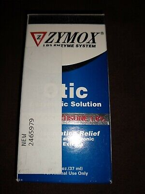 ZYMOX Pet King Brand Otic Pet Ear Treatment with Hydrocortisone(1%) Exp:5/20