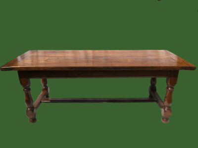Large Antique French Oak Refectory Farmhouse Kitchen Table