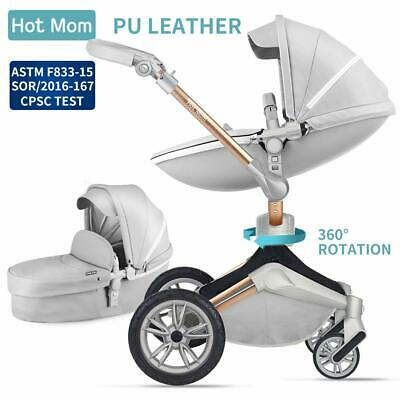 Baby Hot Mom Pushchair 3 in 1 Travel System 360 Rotation Function Stroller