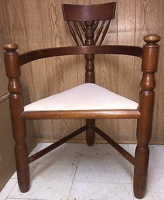 Vintage Stickley Mission Oak Antique Farmhouse Wood Corner Chair Rare
