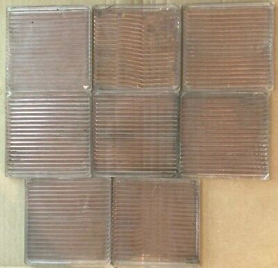 """Set of 16  4"""" X 4"""" SQUARE Tiles LUXFER Prism Co Saw-blade Pattern Sun Purple"""