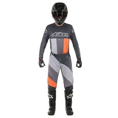 Alpinestars Techstar Venom 2019 MX / Hose / Handschuhe Anthrazit/Grau/Orange
