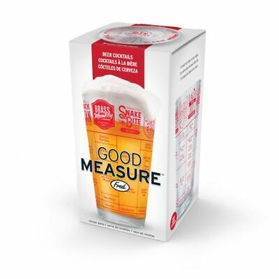 Fred's Good Measure Beer Cocktail Pint Glass Recipes 16 Oz
