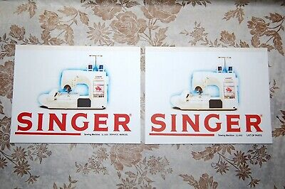 2-Book Library of Service Manuals for Singer Sewing Machines of Class XL-5000