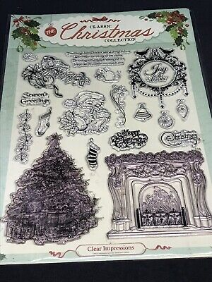 Classic Christmas Collection clear stamp set - twas night before verse fireplace