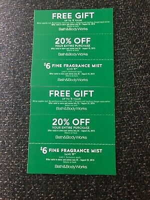 6 Bath And Body Works Coupons Expire 8/25/19