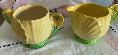 Carlton Ware Buttercup Creamer and Sugar Bowl