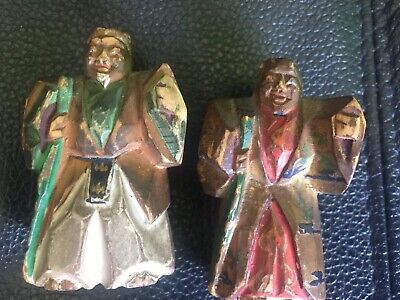 Old Carved Wood Asian Figures