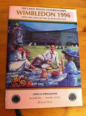 Wimbledon 1996 Official Royal Box Programme 7th day Collectable