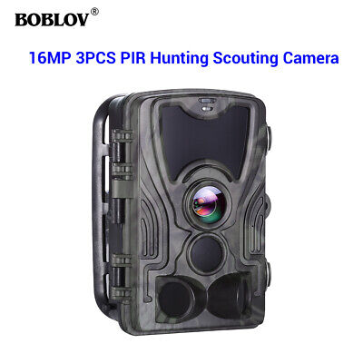 BOBLOV HC801A 16MP 3xPIR Waterproof 120° Night Vision Scouting Game Trail Camera