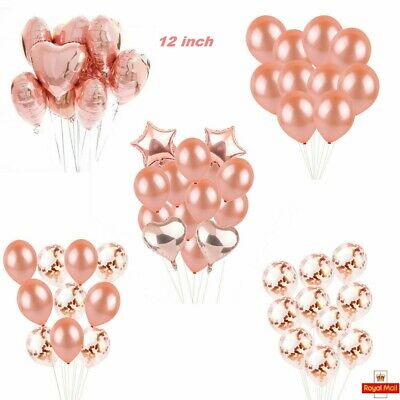 Rose Gold Happy Birthday Bunting Banner Balloons Self inflating Party new