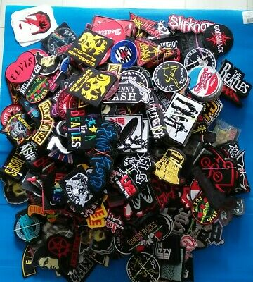 25 RANDOM MUSIC BAND ROCK ROLL MEMORABILIA mbroidered Iron ON Patches Free Ship