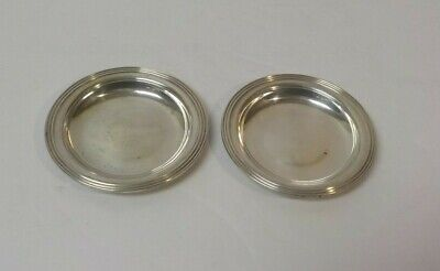 Pair Sterling Silver Butter Pats, No Monograms
