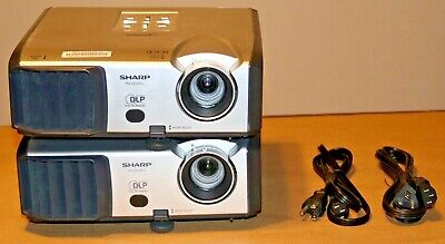 Sharp PG-F212X DLP Projector - Lamp Hours 807 & 809 .Lot of 2
