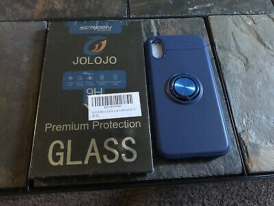 iPhone 10X Glass Screen Protector & Soft Phone Case