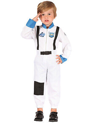 Childs Spaceman Astronaut Costume Space Suit Toddler Fancy Dress Kids Book Day
