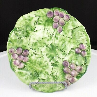 "San Marco NOVE Raised Grapes 8"" Salad Dessert Plate Made in Italy"