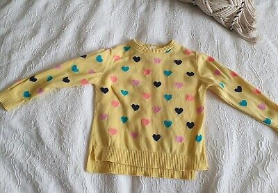 Target Girls Love Heart Knit Jumper - Size 4 GUC